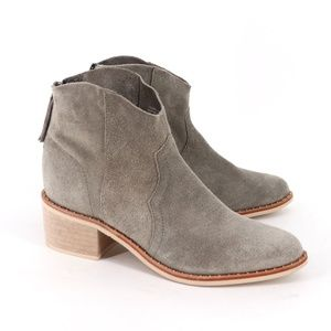 NEW Crevo Clara Suede Pointed Toe Ankle Booties